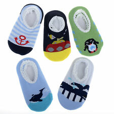5 Pairs Girl Boy Kids Baby Anti-slip Socks Cartoon Slipper 6-24 Months Wholesale