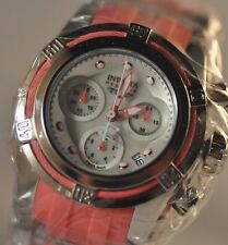 New Womens Invicta 18682 Bolt Reserve Pink Rubber Strap Watch