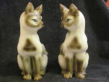 Ceramic Siamese Cat Pair