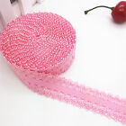 New 5yards 3/4inch 20mm Lace Multirole fold over elastic Spandex Satin Band Pink