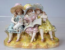 PORZELLAN  Figur Kinder  3 spielende Mädchen Porzellanfigur