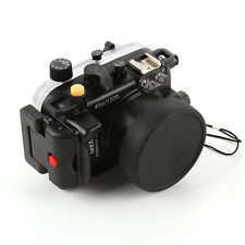 40m Waterproof Diving Underwater Housing Case For Canon G9X Camera 24-85mm Lens