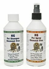 KG Pet Wash & Go Shampoo 250 ml & Spray 250 ml for mange, mites & skin problems