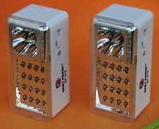 2PC PACK 20 LED RECHARGEABLE AUTOMATIC ON/OFF POWER FAILURE EMERGENCY LIGHT