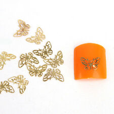 1000pcs 3D Nail Art Golden Foil Metal Tips Sticker Butterfly Manicure Decor