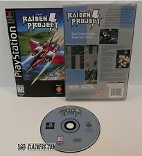 THE RAIDEN PROJECT (Sony PlayStation 1 1996) COMPLETE orig LongBox JET SHOOTER