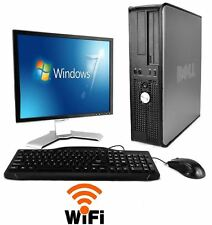 "Dell Desktop Computer 4GB PC 19"" LCD Monitor Microsoft Windows 7 Intel Dual Core"