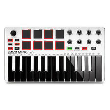 Akai MPK Mini MK2 25-Key USB MIDI Keyboard Controller In Limited Edition White