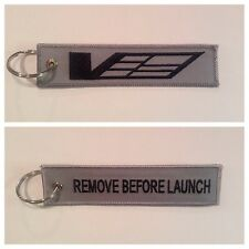 Cadillac CTS-V ATS-V V Sport Keychain Remote Fob REMOVE BEFORE LAUNCH 2 Sid Gray