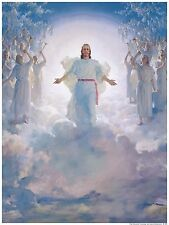 Harry Anderson SECOND COMING OF JESUS CHRIST 17x11 Vintage Mounted Bible Art