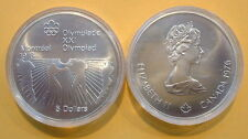 CANADA 1976 OLYMPIC $5 COIN .925 FINE, 24.30 GR, TOTAL PURE SILVER .723 TROY OZ