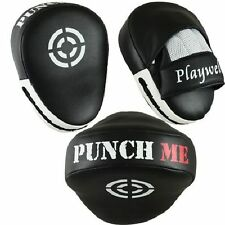 Playwell Curved Punch Me Focus Pads Boxing MMA UFC Target Mitt Hook And Jab
