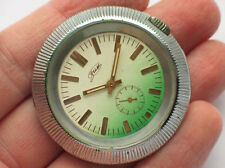 '1980s Rare soviet POBEDA ZIM watch Big chromed UFO case, Nice Two-colored Dial