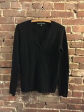 Ralph Lauren Black Label 100% Cashmere Cable Knit Sweater Size M