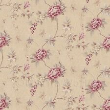 Dolls House Miniature Dark Pink Trailing Flower Design Wallpaper