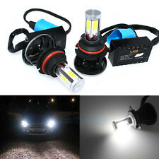 9007 HB5 6000K COB White Hi Lo Dual Beam LED Conversion Kit Headlight Bulbs WE