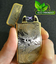Gold Dragon Electric Dual Arc USB Rechargeable Flameless Windproof Lighter