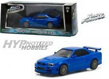 GREENLIGHT 1:43 FAST & FURIOUS - BRIAN'S 2002 NISSAN SKYLINE GT-R Blue 86219