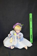 "MARIE OSMOND FINE COLLECTIBLES Garden Angel Doll 8"" Sitting"