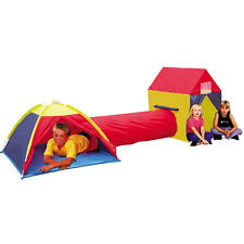 3 WAY KIDS DOME TUNNEL PLAY TENT OUTDOOR INDOOR TOYS GARDEN CHILDREN CAMP