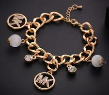 American Fashion Crystal Charm  M @ K Women Men Bracelet Chain Bangle