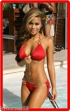 Sexy South American Busty Model In Red Bikini Refrigerator Magnet