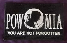 "POW MIA EMBROIDERED PATCH ""YOU ARE NOT FORGOTTEN"" DIY MILLITARY VETERAN VETS"