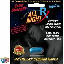 MALE ENHANCEMENT LIBIDO SEX PILL All Night Rx FAST ACTING LONG LASTING 72 HOURS!