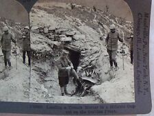WW1 LOADING TRENCH MORTAR IN HILLSIDE DUGOUT SERBIAN FRONT! KEYSTONE STEREOVIEW