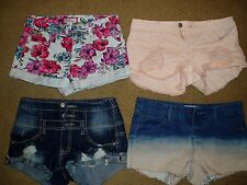 "Junior girls, lot of 4, ""FOREVER 21, SUPER CUTE DENIM SHORTS"" size 24/25 in"