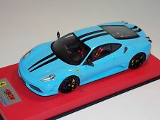 1/18 Looksmart MR Ferrari F430 Scuderia Baby Blue Black Stripe Leather  25 pcs