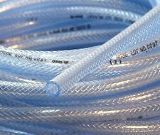 "3/8"" 10mm ID 30 Ft High Pressure PVC Clear Tubing Braid Reinforced GAS Fuel Line"
