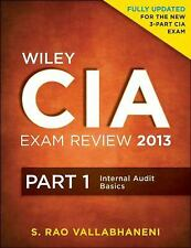 Wiley CIA Exam Review 2013, Part 1, Internal Audit Basics, Vallabhaneni, S. Rao,