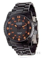 NEW MENS CITIZEN ECO-DRIVE (BJ8075-58F) SUPER TITANIUM BRACELET BLACK WATCH