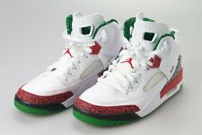 Air Jordan SPIZIKE OG WHITE 8.5 VARSITY RED CEMENT GREY GREEN Basketball Shoes