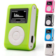 5 Colors Mini USB Clip MP3 Player LCD Screen Music Support 32GB Micro SD TF Card