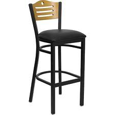 Flash Furniture HERCULES Series Black Slat Back Metal Restaurant Barstool -...
