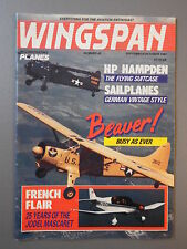 R&L Mag: Wingspan Sept-Oct 1987 WC Gerry Golledge/DH Canada Beaver/HP Hampden