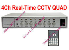 4 Channel 120fps Real-Time CCTV Quad Video Splitter Multiplexer for CCTV Camera