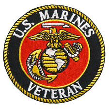 USMC Veteran EMROIDERED IRON ON  Military PATCH