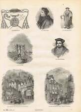 Engravings Cardinals Hat Chancellors Costume Westminster Hall Buckingham Embarki