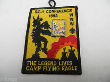 Boy Scout BSA OA 1992 SE-1 Conference Camp Flying Eagle Patch & Enamel Hat Pin