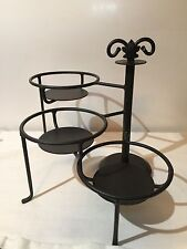 Longaberger Wrought Iron Swivel Caddy Pottery Candle Display Organizer Stand