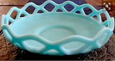Imperial Glass Dish NAPPY Sky Blue Marked