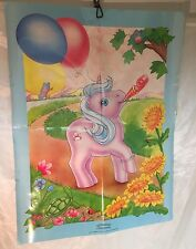 "RARE Vintage G1 My Little Pony ""Pin the Tail on the Pony"" Poster Game BDay Party"