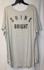 NEW WOMENS PLUS SIZE 4X OLD NAVY SHINE BRIGHT RELAXED CURVED HEM TEE SHIRT TOP
