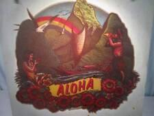 NOS Vtg Iron On Heat Transfer 70s 80s ALOHA Hawaiian Flowers Rats Hole 1979