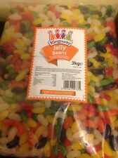 2 x 3KG KINGSWAY JELLY BEANS SWEETS BULK WHOLESALE WEDDING BIRTHDAY PARTY BBQ UK