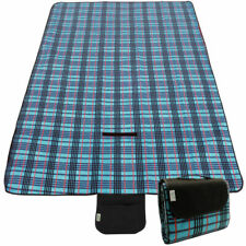 Waterproof Compact Foldable Picnic Blanket 135cm x 120cm Blue ONE SIZE Tropical Stripe One Size Trespass Throw