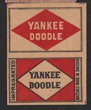 Ancienne  étiquette allumettes   Suède  BN4837 Yankee Doodle